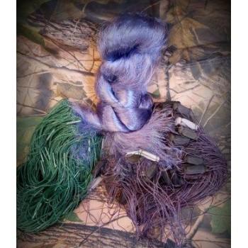 Сеть рыболовная одностенная высота 1.8м. длинна 100м, ВШИТЫЙ ГРУЗ ячейка 40 мм цвет синий