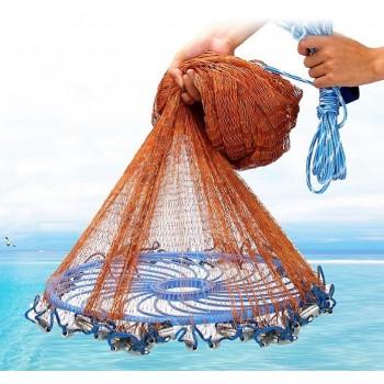 Кастинговая сеть Американка из нитки 5 метров (диаметр)