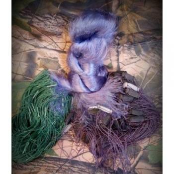 Сеть рыболовная одностенная высота 1.8м. длинна 100м, ВШИТЫЙ ГРУЗ ячейка 22 мм цвет синий